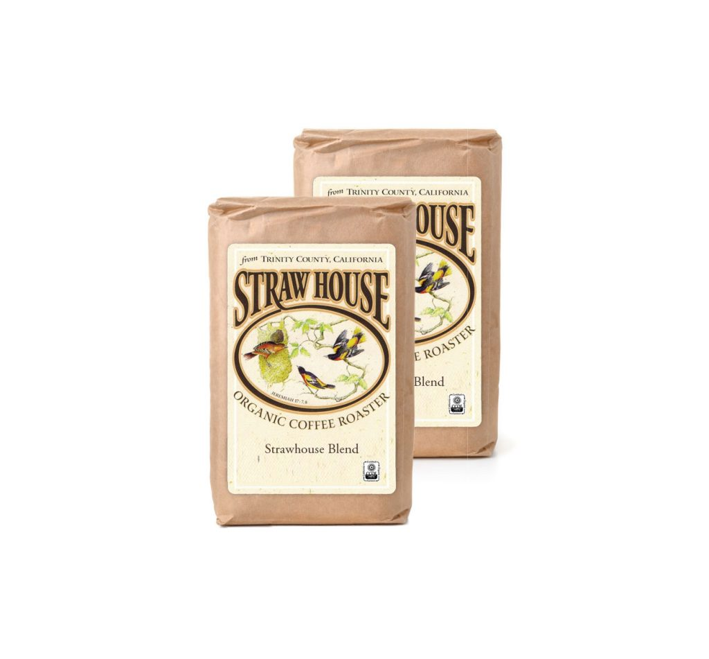 2 bags strawhouse blend coffee