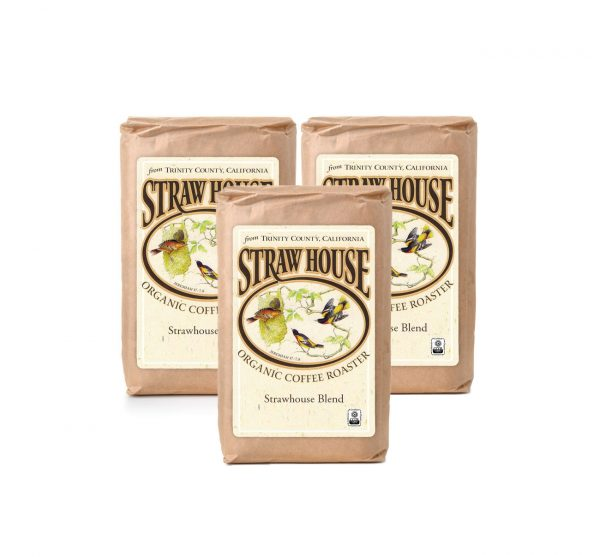 3 bags strawhouse blend coffee